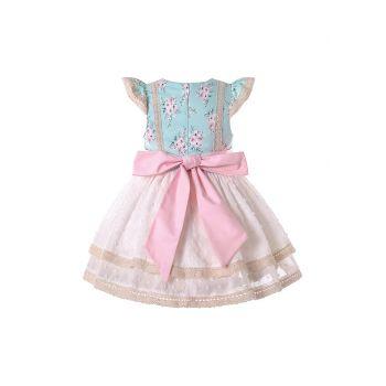 Baby Girls Summer Sleeveless A-line Dress + Handmade Headband
