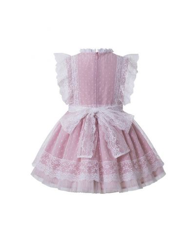 Sweet Summer Princess Yarn Dyed Pleated Boutique Girls Dress + Hand Headband