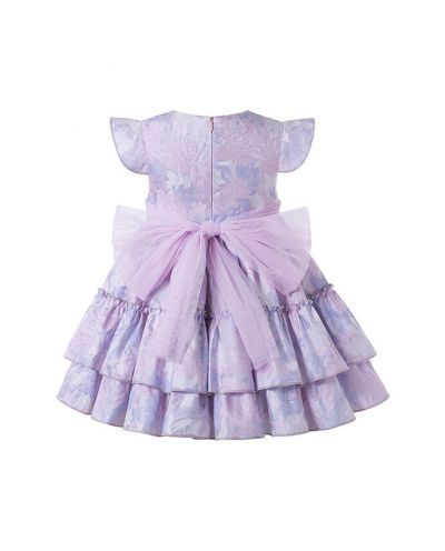 Elegant Princess Light Purple Sleeveless Girls Dresses with Flowers